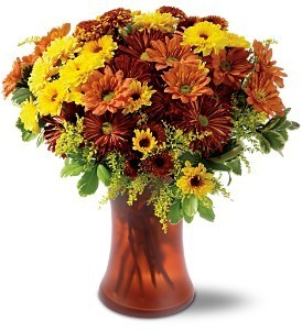 Country Mums Vase Fall Bouquet