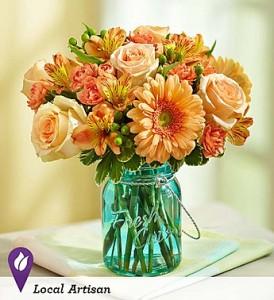 Country Peach Vase