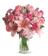 Blushing Beauty mother's Day bouquet