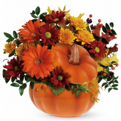 Country Pumpkin Ceramic Pumpkin