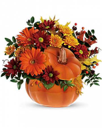 Country Pumpkin Fall Arrangement