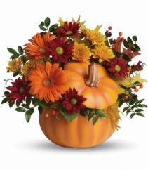 Country Pumpkin Fall Arrangement (T175-1A)