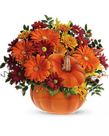 Country Pumpkin Flower Arrangement