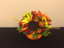 Country Pumpkin Keepsake Arrangement