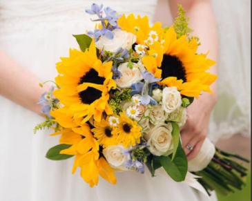 Country Romantic hand tied Bouquet