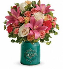 Country Skies Bouquet Fresh Arrangement-Stoneware Crock