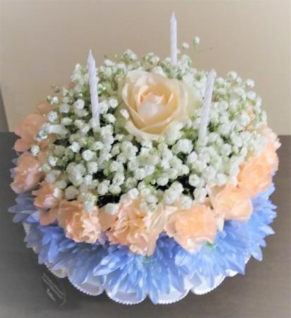 Country Summer Days Flower Cake Half  Size Flower Cake