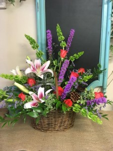 Country Summer Flower Basket