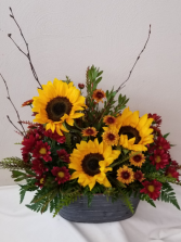 Country Sunflower Tin
