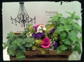 Country Wooden Crate Reception Centerpiece