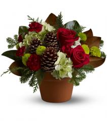 Countryside Christmas Floral Arrangement