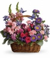Garden of Lavender Basket