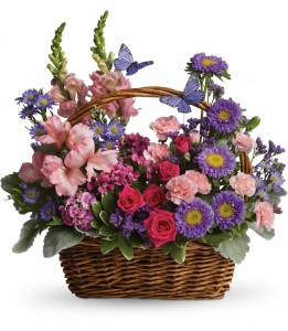 County Basket Blooms Basket Arrangement