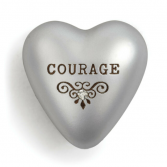 Courage heart with gem