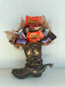Cowboy Boot Candy Bouquet