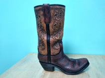 Cowboy Boot  Vase