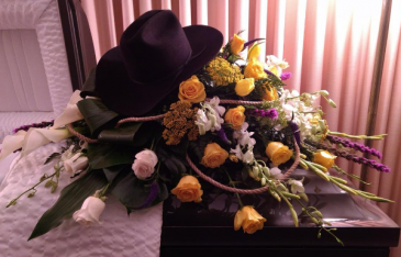 Cowboy casket spray Sympathy