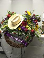 Cowboy Hat Wreath Standing Wreath