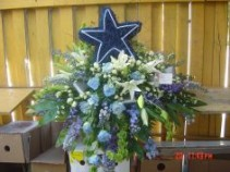 cowboys fan casket spray casket spray