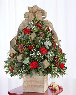 Cozy Cabin Holiday Flower Tree 174652 in Orlando, FL | Artistic East Orlando Florist