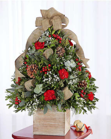Cozy Cabin Holiday Flower Tree 174652