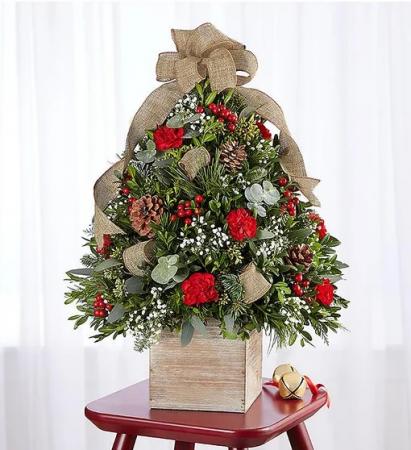 Cozy Cabin Holiday Flower Tree® Arrangement