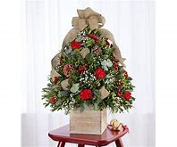 cozy cabin holiday flower tree    christmas