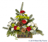 Cozy Christmas Floral Arrangement