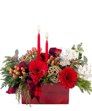 Cozy & Comfy Candle Centerpiece in Clearfield, UT | 4 SISTERS FLORAL & HOME DECOR