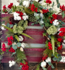 Cozy Cotton Christmas Wreath Christmas