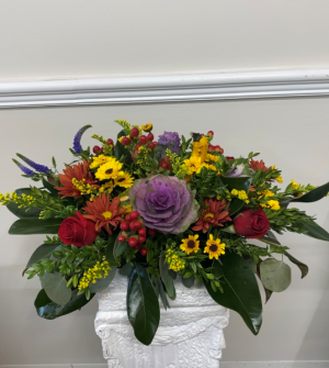 Cozy Fall Centerpiece  in Melbourne, FL | VIOLETS IN BLOOM