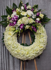 CP 14B  WREATH STAND WREATH FOR A SERVICE