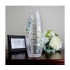 Crackle Glass Memorial Lantern Includes LED timer candle