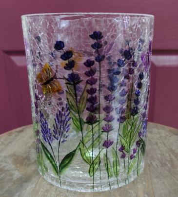 Crackle Glass vase Vase