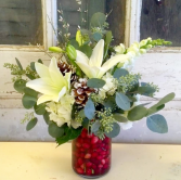 Cranberry Cheer Vase Arrangement
