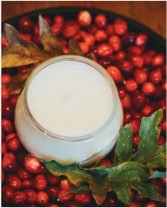 Cranberry Oak scent- Soy Candle Velvet Whiskey Candle -10 oz