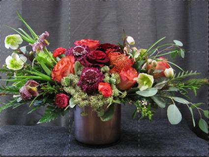 Cranberry Shades  Vase