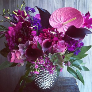 Craving Purple  Vase arrangement in Oakville, ON | ANN'S FLOWER BOUTIQUE-Wedding & Event Florist