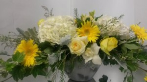 Craving Yellow  Vase arrangement in a Ceramic vase  in Oakville, ON | ANN'S FLOWER BOUTIQUE-Wedding & Event Florist