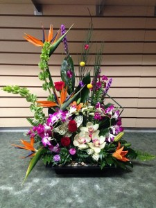 Crayola Creation Dish Arrangement in Calgary, AB | FIRST CLASS FLOWERS LTD.