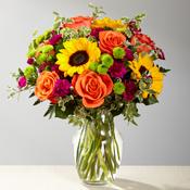 Crazy Color Vase arrangement