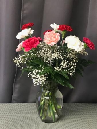 Crazy in Love Carnation Arrangement