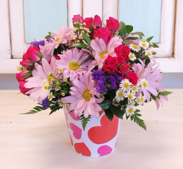 Crazy in Love  Heart Motif Container