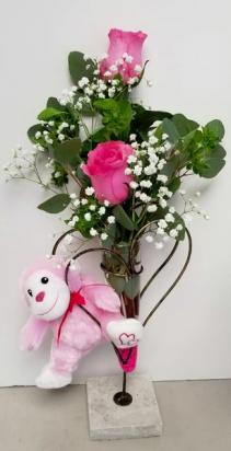 Crazy Pink Love Vase