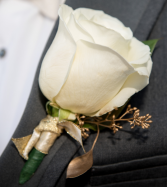 cream boutonniere creamy white and gold seeded euc boutonniere