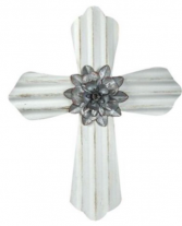 Cream Metal Cross