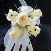 Cream rose corsage Corsage