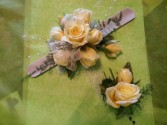 Cream Rose Snap Band Corsage Wrist Corsage