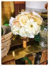 Cream with Gold Handheld Bouquet