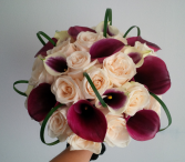 Creamy Plum Bridal Bouquet